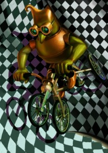 オリジナル立体作品(自転車)